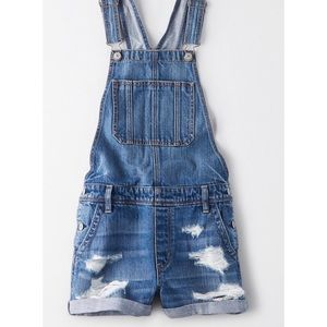 AE TOMGIRL DENIM SHORT OVERALL